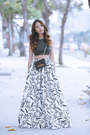 Black-cross-body-club-monaco-bag-white-maxi-skirt-aliceandolivia-skirt