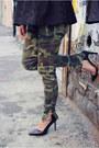Black-peplum-h-m-top-camo-prints-zara-pants-strap-zara-pumps