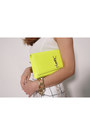 Yellow-neon-yves-saint-laurent-bag-white-crop-top-zara-top