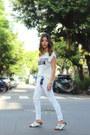 White-white-mango-top-white-leather-birkenstock-sandals-white-j-brand-pants