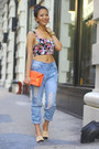 Crop-top-floral-urban-outfitters-top-boyfriend-jeans-rag-bone-jeans