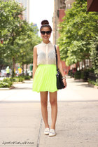 neon Urban Outfitters skirt - white Topshop loafers