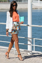 Zara skirt - Zara blazer - Primark bag - Zara sandals - Zara top