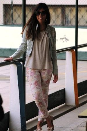 Bershka pants - New Yorker jacket - Bershka blouse - H&M flats