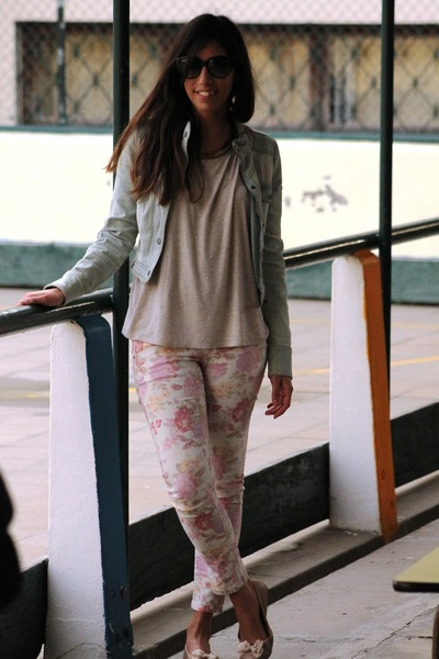 Bershka pants - New Yorker jacket - Bershka blouse - H&amp;M flats