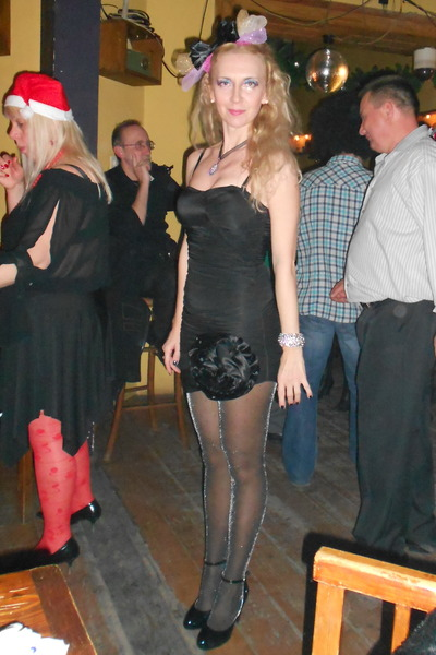 H&M dress - Accessorize tights - Zara heels - MagicArtandLisa accessories