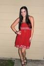 Cream-discovery-ring-brick-red-american-rag-dress