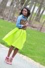 Yellow-sheinside-skirt