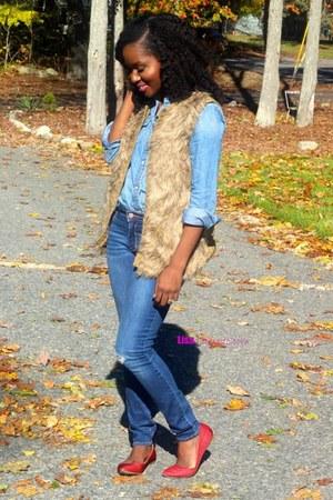 camel fur vest Target vest