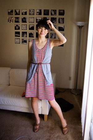alloy dress - vest - modcloth shoes - Urban Outfitters belt