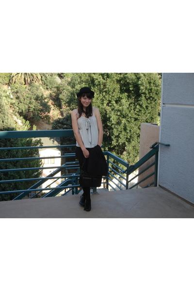 modcloth hat - Tulle shirt - delias shoes