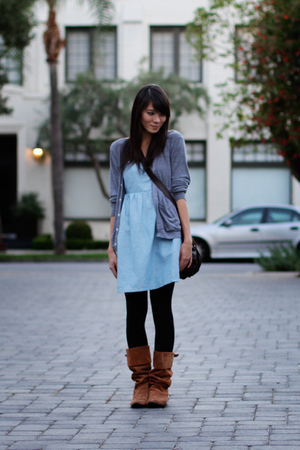 Tulle dress - Urban Outfitters boots