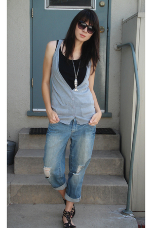 Urban Outfitters shoes - forever 21 shirt - delias vest - delias jeans - modclot