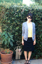 Urban Outfitters skirt - forever 21 shirt - American Apparel sweater - Urban Out
