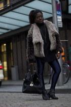 Zara jacket - Blink Shoes boots - disco pants new look leggings