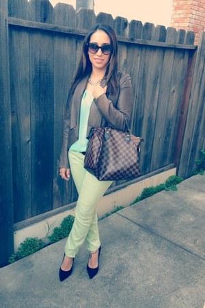 Chanel sunglasses - Boutique 9 shoes - free people jeans - BB Dakota jacket