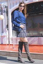 Zara skirt - Pura Lopez boots - Marc by Marc Jacobs glasses