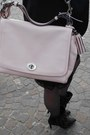 Black-zara-dress-black-naf-naf-blazer-light-pink-leather-bag-coach-bag
