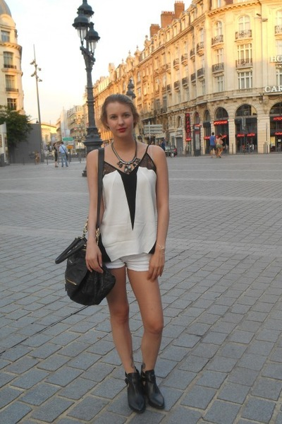 black Givenchy bag - white SANDRO top
