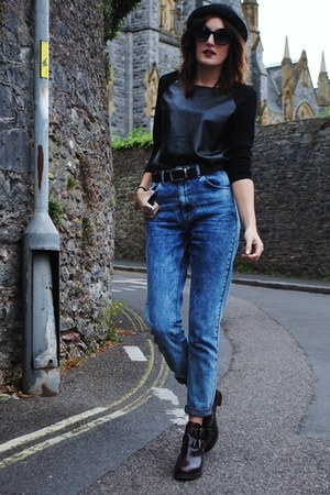 Topshop boots - Topshop jeans - Urban Outfitters sunglasses - Ebay top