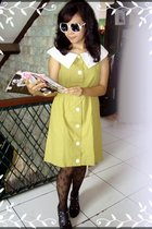 Thrift Shop dress - mangga dua stockings - vintage sunglasses - No label shoes