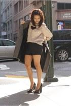 Zara coat - Aldo heels - vintage blouse