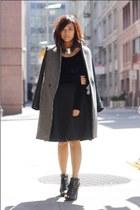H&M necklace - Aldo boots - Zara coat - American Apparel shirt
