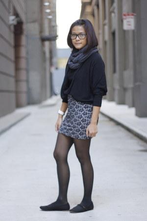 cotton on skirt - American Apparel scarf - batwing xSML cardigan