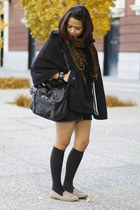 moms scarf - satchel Aldo bag - Dolce Vita loafers - H&M cape