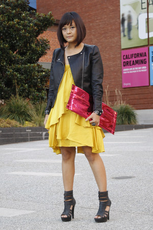 H&M jacket - BCBG Maxazria dress - Margiela for H&M bag