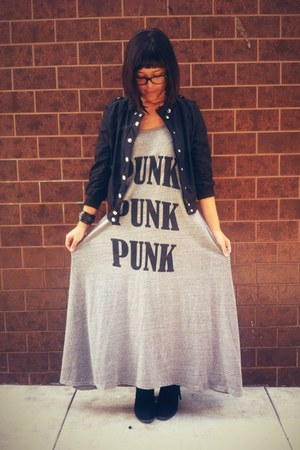 heather gray punk punk punk Number-A Boutique dress