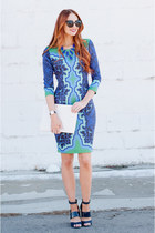 Printed Hale Bob Dress