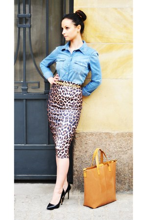 River Island skirt - Zara bag