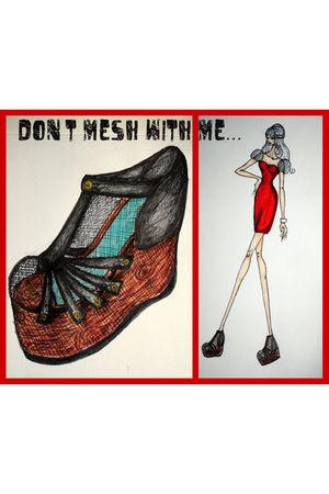 red Drawn dress