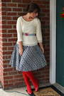 Red-thrifted-vintage-shoes-navy-jcrew-dress-red-thrifted-vintage-belt