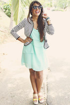 black Forever 21 blazer - aquamarine Forever 21 dress