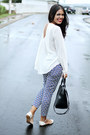 Navy-pattern-forever-21-pants-black-zara-bag-off-white-forever-21-blouse