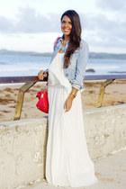 off white Zara dress - salmon Zara bag