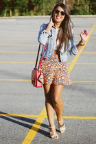 carrot orange Zara skirt - white Zara top