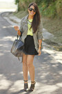 Olive-green-pacsun-jacket-chartreuse-forever-21-top-black-mermaid-zara-skirt