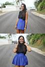 Blue-forever-21-skirt-black-forever-21-top