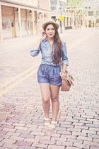 Urban Outfitters hat - Charlotte Russe jacket - Zara shorts