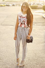 Off-white-muscle-zara-top-heather-gray-striped-bullhead-pants