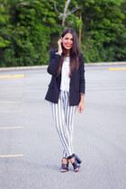 silver Bullhead jeans - black Zara blazer