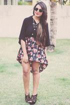 black skirt - black Forever 21 top