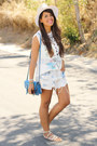White-fedora-zara-hat-blue-steve-madden-bag-sky-blue-levis-shorts
