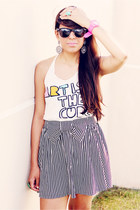 black striped Forever 21 skirt - ivory Forever 21 top