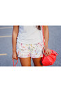 Coral-zara-bag-light-pink-florals-zara-shorts