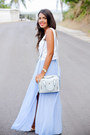 Light-blue-shoulder-zara-bag-sky-blue-pleated-maxi-zara-skirt