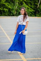 blue maxi Zara skirt